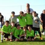 I pulcini 2005 dell'olginatese festeggiano la vittoria dell'ausonia cup 2015
